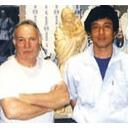 ROA彫刻家 ファントーニ氏(左) フクイシ彫刻家 菅家氏(右)